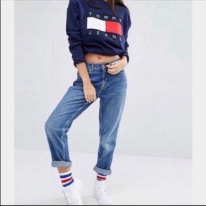 ♻️Tommy Hilfiger| Boyfriend Medium Wash Jeans SZ 6